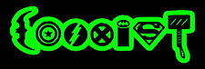 COEXIST SUPERHERO Funny comic DECAL CAR TRUCK BUMPER ~Lime Green