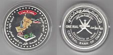 OMAN - COLORED SILVER PROOF 1 RIAL COIN 2007 YEAR KM#164 40th FIRST OIL SHIPMENT