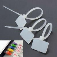 100 x Nylon Self-Locking Label Tie Network Cable Marker Cord Wire Strap Zip N