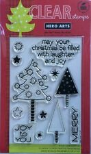 "Hero Arts ""Laughter And Joy"" Christmas Clear Stamp Set"