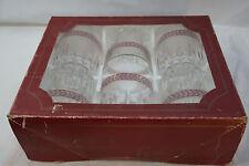 OLD FASHIONED GLASSES SET 6 ITALIAN MASSERINI BARWARE WHISKEY TUMBLERS ROCKS BOX