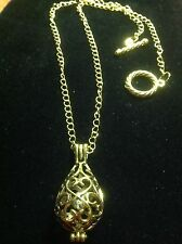 Gold Plated Chain With Chiming Bell Pewter Pendant necklace 18""