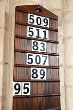 Church Hymn Numbers / School plastic Hymn board Number Sets – Black on White