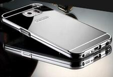 Aluminum Metal Mirror Case + PC Back Cover For Samsung Galaxy S7/Edge/+ A5(2016)
