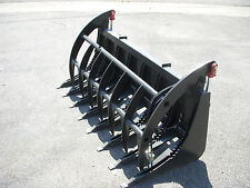 "Skid Steer Tractor Loader Attachment - 72"" Root Rake Clam Grapple - Ship $199"