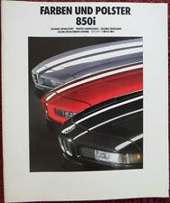 BMW 850i 1990 Large Multi-Lang Colours & Upholstery brochure - 8 Series V12