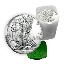 1 oz Silver American Eagle Coins BU (Lot, Roll, Tube of 20)