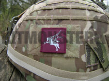 British Army Velcro backed Pegasus Airborne Helmet Patch Maroon Blue  16AA 4x4cm