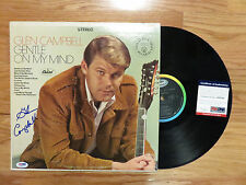 GLEN CAMPBELL signed GENTLE ON MY MIND Record / Album PSA / DNA