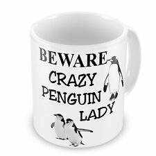 Beware Crazy Penguin Lady Novelty Gift Mug