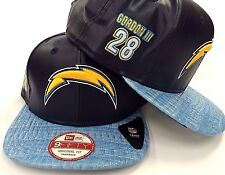 San Diego Chargers NFL New Era 9FIFTY Melvin Gordon Snapback Leather Fit Cap Hat