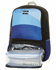 NEW BILLABONG 'JUGGERNAUGHT' BOYS BACKPACK SCHOOL BAG + LUNCH BOX 29L INDIGO