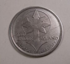 Fantasy Coin ANTARCTICA Enderbyland 1990 One Sovereign Aluminum