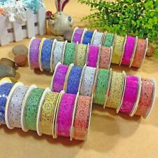 1 Roll Tap Vogue Hollow Lace Adhesive Tape DIY Scrapbook Stickers Random Color