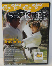 Elisa Au SECRETS of CHAMPIONSHIP KARATE - Kumite Black Belts - 1-Disc DVD - NEW