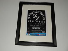 "Framed Foo Fighters Mexico City 12/13/2013 Handbill Mini-Poster,14"" by 17"""