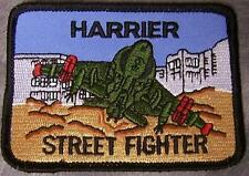 Embroidered Military Patch USMC Harrier Street Fighter NEW VTOL airplane
