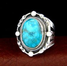Raymond Delgariio Navajo Sterling Silver Turquoise Ring Size 10.5 --- R19 D T