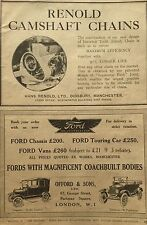 Renold Camsgaft Chains-Original 1919 Magazine Car Ad,Ford Offord & Sons