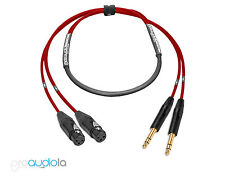 Premium 2 Channel Mogami 2930 Snake | Neutrik Gold XLR F to TRS | Red 2 ft.