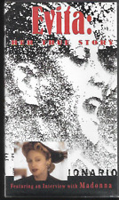 EVITA HER TRUE STORY (VHS) VIDEO PAL UK FORMAT DOCUMENTARY MADONNA/ PERON VGC