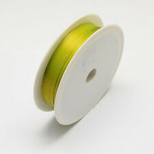 Iron Wire Green Yellow 1Roll 0.5mm approx. 7m/roll Steel Wire Cable Making DIY