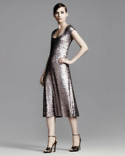 MARC JACOBS Pink Brushed Metal Sequins Dress ( Size 4)