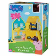 NUOVO Peppa Pig Deluxe Playhouse con le figure e accessori età 18m+ - dmged BOX