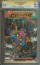 CRISIS ON INFINITE EARTHS #12 SS CGC 9.8 SIGNED GEORGE PEREZ WALLY WEST FLASH