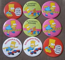 "Lot of VINTAGE 1990 Bart Simpson ""6 Inch Pins by Matt Geoening"
