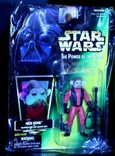1997 SEALED Star Wars Kenner Nien Nunb Figure w/Blaster Pistol/Rifle POTF COLL 2