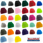 Supersoft Beechfield B45 Turn-Up Beanie Hat -26 colours- 100% Acrylic, One size