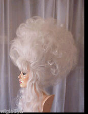 SIN CITY WIGS WHITE FLUFFY UP DO POOF VOLUME BIG SEXY HAIR DRAG QUEEN BANGS HOT