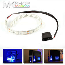 2 x 30cm Blue 18 LED Modding PC Case LED Strip 5050 SMD Light Molex Connector