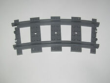Lego ® RC Rail Courbe Chemin de Fer Train 9 v Dark Stone Grey ref 53401 NEW