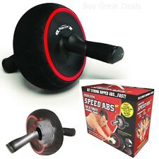 Abs Roller Crunch Abdominal Exerciser Workout Wheel System Machine Home Fitness
