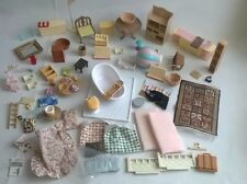 Sylvanian Families Bundle Of Spare Furniture 79 Items Food Fabric Dolls House