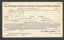 DATED 1914 PC DAYTON OH THE PITTSBURGH CINCINNATI&ST LOUIS RAILWAY CO FGT NOTICE