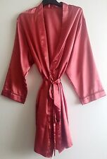 Womens Satin Dressing Gown/Robe Uk Sizes 8-24 Various Colours
