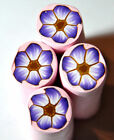 Single Fimo polymer clay millefiori flower cane nail art by orly