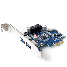 PCI Express USB 3.0 2 Ports Front Panel with 4-Pin & 20 Pin Control Card Adapter