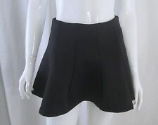 Gothic Punk Witchy AMBIANCE APPAREL Black Neoprene Flared Mini Skirt Small
