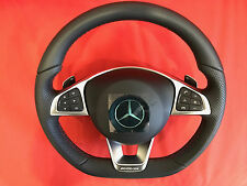 AMG Mercedes-Benz A B ML Class steering wheel black,red stitches New with pedals