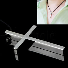 Unisex Stainless Steel Cross Pendant With Necklace Chain 1080 Silver CG