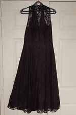 New 10 Peacock Limited Edition Full Circle Fit& Flare Lace Dress Net Skirts Xmas
