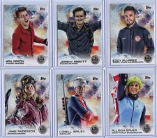 2014 Topps Winter Olympics 100 Card SILVER Set!!! (ALL 100 CARDS IN TOPLOADERS!)