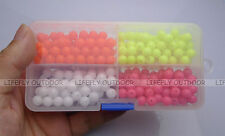 """4 Colors / 280 Acrylic Beads, Fishing Lures, Texas Rigs, Craft / 8mm (5/16"""")"""