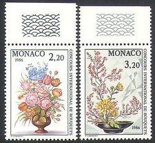Monaco 1985 Flowers/Roses/Plants/Nature/Art/Flower Show 2v set (n34351)