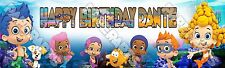 "Bubble Guppies Banner Poster 30"" x 8.5"" Personalized custom name painting"