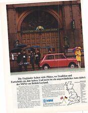 MINI - British Leyland  -- historische Reklame - vintage advert - alte Annonce
